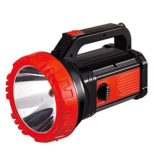 ZSLLO LED Searchlight Ricaricabile Ultra Flashlight Dimmer Interruttore con luci Laterali per luci di Emergenza per la casa Outdoor Adventure Pesca Walking Camping Lights torce elettriche