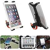 Yongse Coche de la motocicleta de la bicicleta del micrófono del soporte del montaje para el iPad Mini aire 2 3 4 7-11inch Tablet
