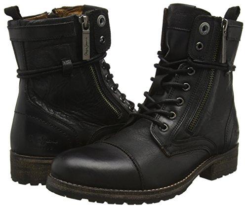 Womens Melting W.Zipper Desert Boots, Black Pepe Jeans London