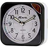 RAVEL SQUARE BLACK BEEP ALARM CLOCK WITH LIGHT RC001.03
