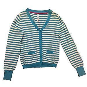 Pepe Jeans – Cardigans DE Rayas Blanca/Azul Talla 16 AÑOS