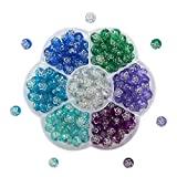 TOAOB Ozean-Thema 8mm Perlen Zum Auffädeln Kinder Aus Acryl In Rosenform Mit Silberfarben Kante Für Armbänder Kinder Schmuck Basteln 175 Stück