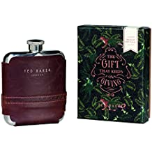Ted Baker Walnut Brogue Hip Flask, Multicoloured
