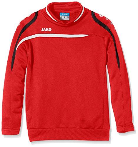 Jako Kinder Sweatshirt Sweat Performance rot/Weiß/Schwarz 140