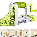Deik Spiralizzatore di Verdure, Taglia Verdure a Spaghetti Affetta Verdure Spaghetti di Zucchine Attrezzo con 5 Lame (Patate, Zucchine, Cetrioli, Carote)