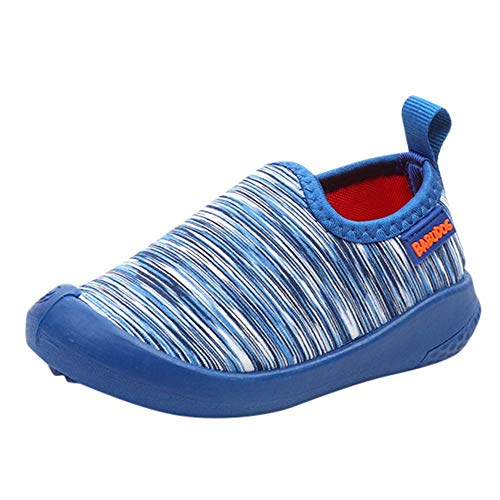 Primeros Zapatos para Caminar Bebé Cuero Princesa Suave Suela Zapatos niña Zapatillas Casuales Zapatillas Deportivas de Lona Deportiva para niños Estampado Rayas Darringls