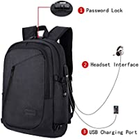 Anti-theft Business Laptop Backpack With USB Charge Port ,Lightweight Outdoor Waterproof Travel College Backpack