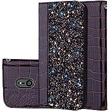 für Smartphone Sony Xperia XZ3 Hülle, Leder Tasche für Sony Xperia XZ3 Flip Cover Handyhülle Bookstyle mit Magnet Kartenfächer Standfunktion