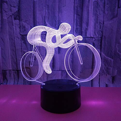 Neue Fahrrad 3d Nachtlicht Usb Power Led Licht 7 Bunte Touch Visuelle Geschenk Led Nachtlicht Neuheit Usb Led Kinderzimmer Licht