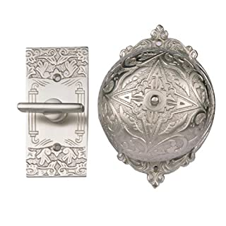 Adonai Hardware Belshazzar Brass Manual Old Fashion Door Bell or Twist Door Bell or Hand-Turn Door Bell - Satin Nickel