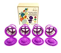 lil Monk 4 Pack Reusable K Cups For Keurig 2.0 k cup reusable Coffee Filter And single cup coffee maker K200, K300, K400 and K500 Series Perfectly Designed Premium Quality K Cup Holder