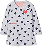 Noppies Baby-Mädchen Kleid G Dress ls Twins AOP, Mehrfarbig (Light Grey Melange C245), 68
