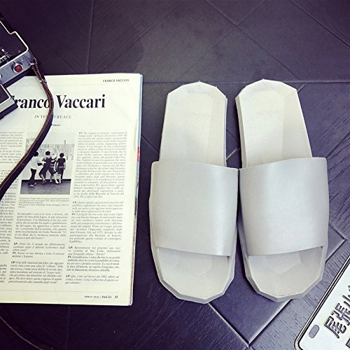 DogHaccd pantofole,Pantofole estate donna antiscivolo in plastica interni soggiorno home bagni coppie vi estate home cool pantofole maschio Grigio1