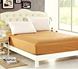 """Sleep Matic Waterproof 78""""x 72"""" Cotton Fitted King Size Mattress Protector Maroon"""