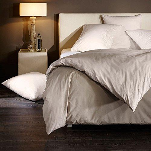 Bettwaren-Shop Uni Wendebettwäsche pristine Bettbezug einzeln 200x220 cm