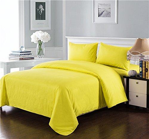 Tache 100% Baumwolle Solid Gelb Tröster Set mit Reißverschluss, baumwolle, gelb, Twin (Twin-top-zip)