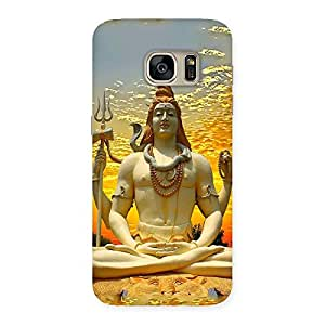 Shiva Samadhi Print Back Case Cover for Galaxy S7