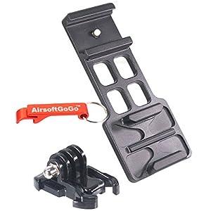 Extension Side Rail Mount pour GoPro HERO 1 2 3 4 fit Airsoft AEG GBBR 20mm Rail - Porte-clés Inclus