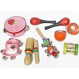 Homieco™ Musikinstrumente Kinder Spielzeug Set 7 Stück für Kinder Percussion Spielzeug Kinder Rhythmus Mini Band Drum Bells