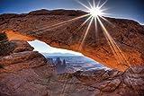 1art1 55008 Schluchten - Mittagssonne Über Dem Mesa Arch, Canyonlands National Park, USA Selbstklebende Fototapete Poster-Tapete 180 x 120 cm