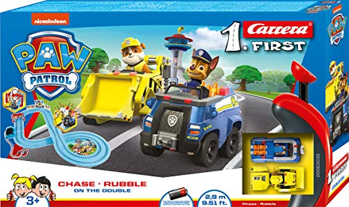 Carrera- Paw Patrol-on The Double-2,9 First (20063035) Circuit de Voiture, Bleu