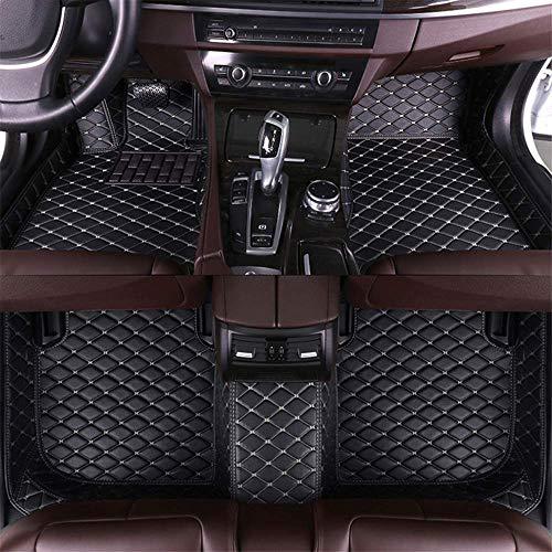 Tuqiang Tappetini Auto in Pelle per M itsubishi Pajero V97 (4 Door) 7-Seats 2007-2012 Antiscivolo Impermeabile 3D Tappetini Moquette Nero con Beige