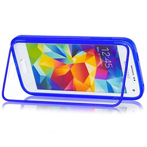 Samsung Galaxy S5 MINI | iCues táctil TPU Azul | Caso duro al Air libre grueso...
