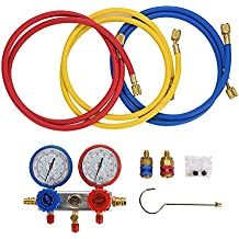 0~500Psi Aire acondicionado Refrigerante Diagnóstico Fluorine Manifold Table Gauge Set