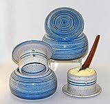 Unbekannt original französische wassergekühlte keramik butterdose, nie mehr harte butter zum frühstück, für ca 250 g butter, bristol spiral B-G