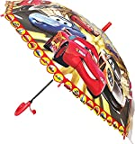 #6: 3D Disney Pixar 95 Car Print Umbrella/Junior Kids/Age-2 Years to 10 Years/Boys Print Umbrella for Kids ( Multi Color )