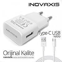 inovaxis Vestel Venüs Z20 Hızlı Şarj Cihazı + Type-C Data Kablosu, Beyaz, 2.2A cc22