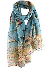 Luxus Tuch Schal Halstuch Stola blau grau S16