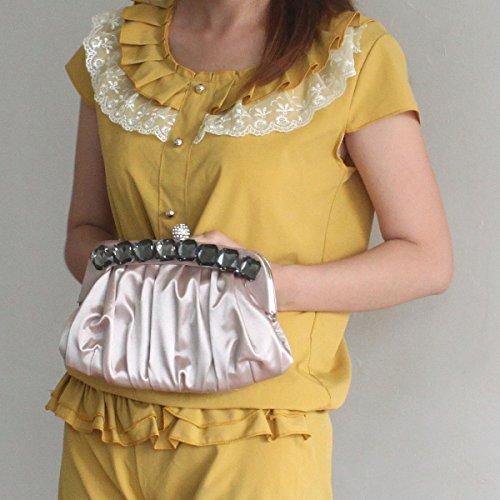 Caso Catena Delle Donne Con Catena Staccabile Evening Clutch Sling Handbag Beige