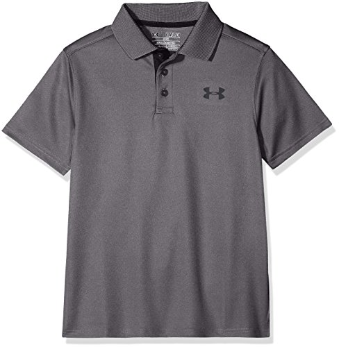 Under Armour Jungen Performance Polo Kurzarmhemd, Carbon Heather, S