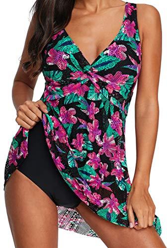 Ocean Plus Mujer Verano Elegante Bañador de Encaje Colorido con Espalda...