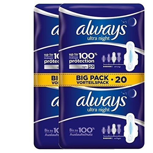 always-ultra-night-towels-40-value-pack