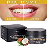 Activated Charcoal Teeth Whitening Powder,Activated Coconut Charcoal Powder for Stronger Healthy Whiter Teeth,Mint Flavor