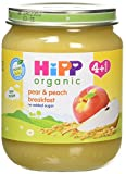 HiPP Organic Peach and Pear Breakfast, 125 g (Pack of 6)