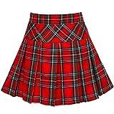 Sunny Fashion Girls Skirt Back School Uniform Red Tartan Skirt Age 6-14 Years