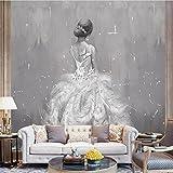H&M Wallpaper Personalisierte Mode Hochzeit Kostüme Abstrakte Kunst Ölgemälde 3D Benutzerdefinierte Wandbilder für Hochzeit Shop Hintergrundwand
