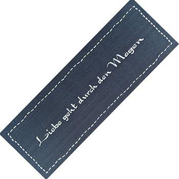 teppich l ufer waschbar rutschfest liebe geht modern grau 50x150 sauberlaufzone f r k che. Black Bedroom Furniture Sets. Home Design Ideas