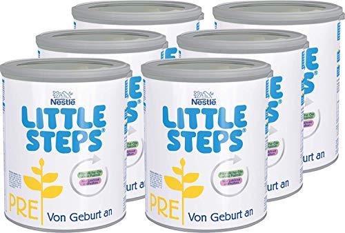 Nestlé LITTLE STEPS PRE Anfangsnahrung, von Geburt an, 6er Pack (6 x 800g)