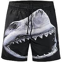 Männer 3D Shark Print Strand Hosen Druck Jugend Mode lässig schnell trocknend Hosen große Größe M-xxl