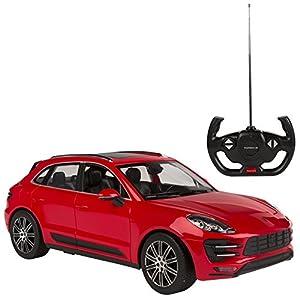 Rastar - Porsche Macan, coche teledirigido, escala 1:14, color rojo (ColorBaby 75995)
