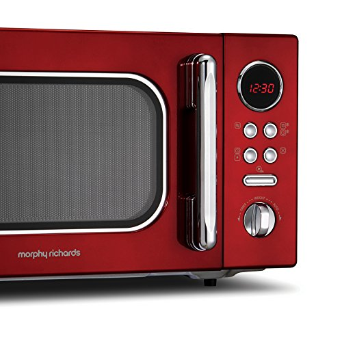 Morphy Richards Microwave Accents Colour Collection 511512 23L Digital Solo Microwave Red