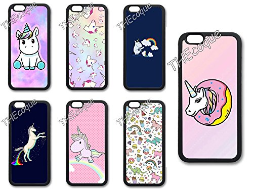 Coque silicone BUMPER souple IPHONE 5C - Licorne unicorn Cheval mignon CASE tpu DESIGN + Film de protection INCLUS 3