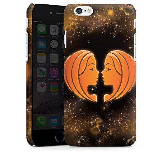 Apple iPhone X Silikon Hülle Case Schutzhülle Sternzeichen Zwillinge The Twins Premium Case matt