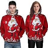 JiaMeng Männer Weihnachten Kapuzen Pullover Herbst Winter Weihnachten Weihnachtsmann Casual Pullover Weihnachten Hoodies Trainingsanzüge warme Sweatshirt