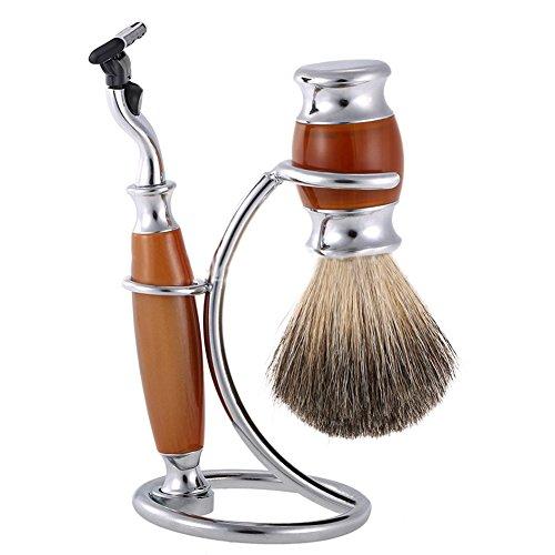Support de kit de rasage pour homme 2 en 1 pour rasoir et support de rasoir Rasoir et support pour rasoir pour homme Support de support pour blaireau (seulement le support)