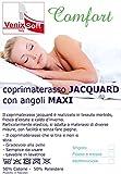 Venixsoft Coprimaterasso, Spugna Cotone Jacquard, on Angoli Estendibili con Elastici, Matrimoniale 160-170 x 190-195-200